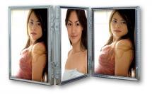 Tripla Sølv 3 Billeder Folderamme 10x15 cm