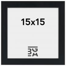 Stilren Billedramme Sort 15x15 cm
