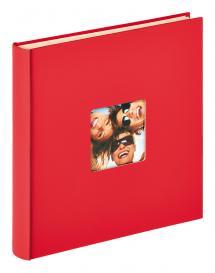 Fun Selvhæftende Rød - 33x34 cm (50 Hvide sider / 25 blade)