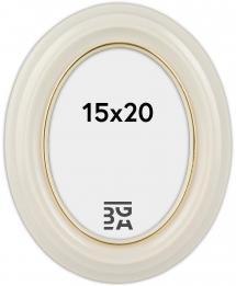 Eiri Mozart Oval Fotoramme Hvid 15x20 cm