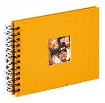 Fun Spiralalbum Gul - 23x17 cm (40 Sorte sider / 20 blade)