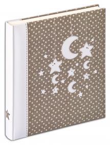 Stars & Moon - 28x30,5 cm (50 Hvide sider)