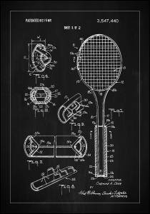 Patent Print - Tennis Racket - Black