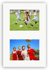 Passepartout Hvid 24x30 cm - Collage 2 Billeder (12x17 cm)