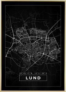 Kort - Lund - Sort