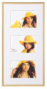 New Lifestyle Collageramme Guld - 3 Billeder (10x15 cm)