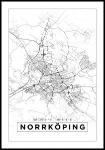 Kort - Norrköping - Hvid