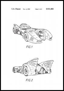 Patenttegning - Batman - Batmobile 1990 I