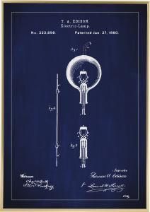 Patenttegning - Elpære B - Blå