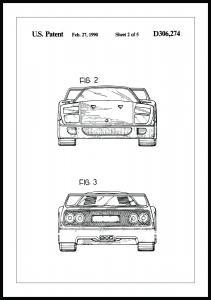 Patenttegning - Ferrari F40 III