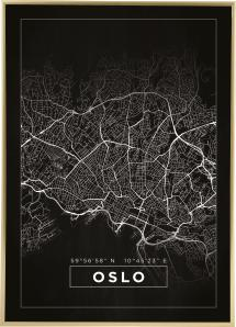 Kort - Oslo - Sort
