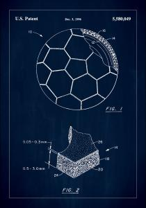 Patent Print - Football - Blue