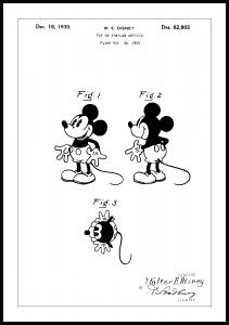 Patenttegning - Disney - Mickey Mouse