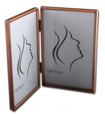 Glat metal Folderamme Kobber 10x15 cm - 2 Billeder