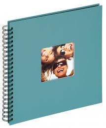 Fun Spiralalbum Turkis - 30x30 cm (50 Sorte sider / 25 blade)