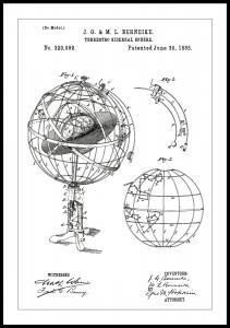 Patenttegning - Astronomisk model - Hvid