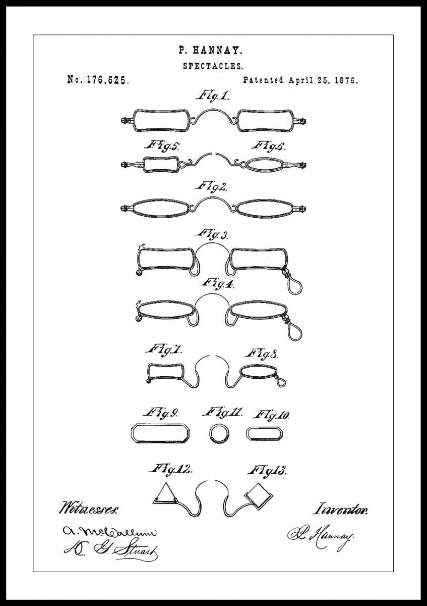 af1c49f7cc5d Patenttegning - Briller B - Hvid - BGA Nordic