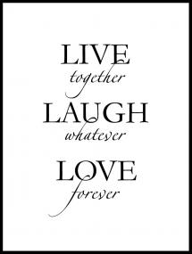 Live, laugh, love - Sort