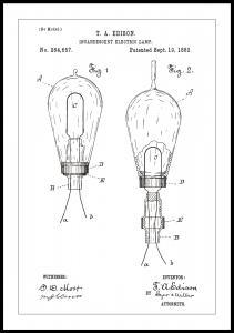 Patenttegning - Elpære A - Hvid