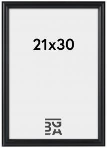 Line ramme Sort 21x30 cm