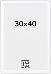 Stilren Billedramme Hvid 30x40 cm