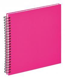 Fun Spiralalbum Rosa - 30x30 cm (50 Hvide sider / 25 blade)