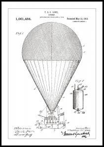 Patenttegning - Luftskib - Hvid