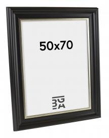 Dalarna Billedramme Sort-Sølv 33A 50x70 cm