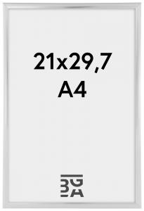 Plakatramme Sølv 21x29,7 cm (A4) / 21x30 cm