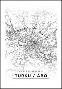 Map - Turku / Åbo - White