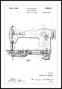 Patenttegning - Symaskine I