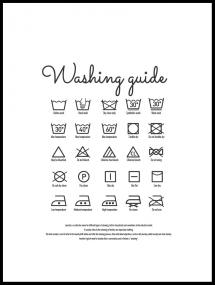 Washing guide white