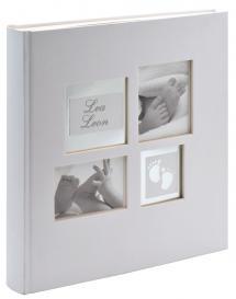 Little Foot Album grå-hvid - 28x30,5 cm (60 Hvide sider / 30 blade)