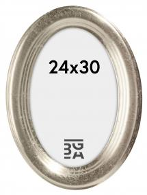 Molly ramme Oval Sølv 24x30 cm
