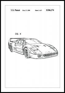 Patenttegning - Ferrari F40 II