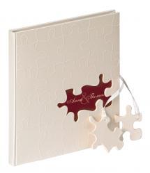 Puzzle Gæstebog - 23x25 cm (144 Hvide sider / 72 blade)