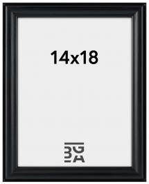 Line ramme Sort 14x18 cm