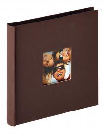 Fun Album Mørkbrun - 18x18 cm (30 Sorte sider / 15 blade)