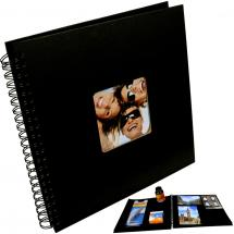Fun Spiralalbum Sort - 30x30 cm (50 Sorte sider / 25 blade)