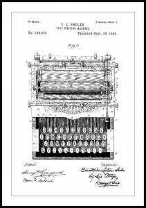 Patenttegning - Skrivemaskine