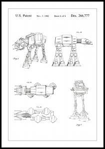 Patenttegning - Star Wars - Walker - Hvid