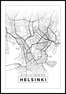 Kort - Helsinki - Hvid