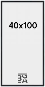 Stilren Plexiglas Sort 40x100 cm
