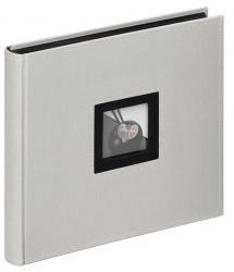 Black & White Album Grå - 26x25 cm (50 Sorte sider / 25 blade)