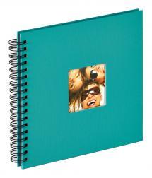 Fun Spiralalbum Grøn - 26x25 cm (40 Sorte sider / 20 blade)