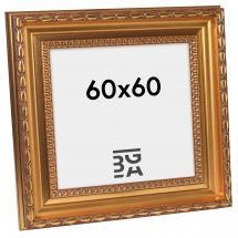 Birka Premium Billedramme Guld 60x60 cm
