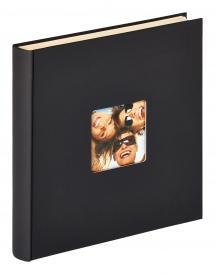 Fun Selvhæftende Sort - 33x34 cm (50 Hvide sider / 25 blade)