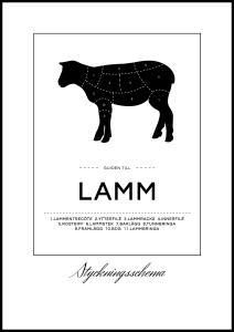 Skæringsskema lam