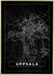 Kort - Uppsala - Sort