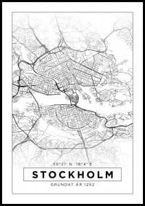 Kort - Stockholm - Hvid